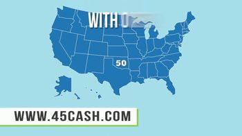 45cash.com TV Spot, 'No Paperwork'