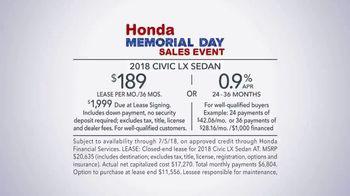 Honda Memorial Day Sales Event TV Spot, 'All Across America' [T2] - Thumbnail 8