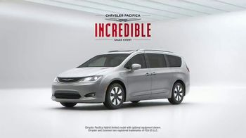 Chrysler Memorial Day Sales Event TV Spot, 'Incredibles 2: 2018 Pacifica' [T2] - 9 commercial airings
