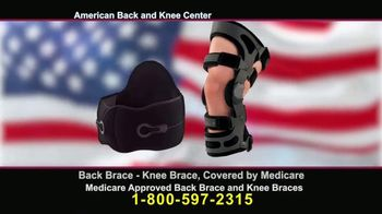 American Back and Knee Center TV Spot, 'Back and Knee Braces'