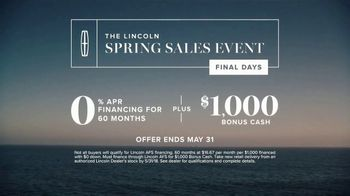 Lincoln Spring Sales Event TV Spot, 'Quiet Tranquility' [T2] - Thumbnail 9