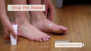Carpe Hand and Foot Antiperspirant TV Spot, 'Sweaty Hands and Feet' - Thumbnail 7