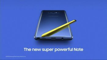 Samsung Galaxy Note9 TV Spot, 'Powerful S Pen' Song by LSD - Thumbnail 10