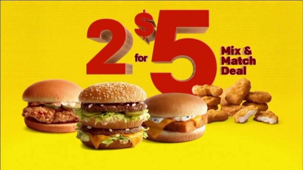 McDonald's 2 for $5 Mix & Match Deal TV Commercial, 'Mix Your Choice' -  Video