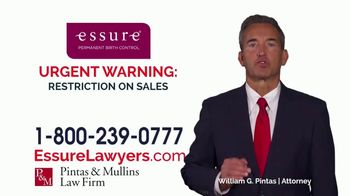 Pintas & Mullins Law Firm TV Spot, 'Essure Urgent Warning'