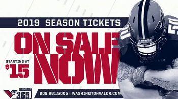 2019 Washington Valor Season Tickets TV Spot, 'Memberships' - Thumbnail 10