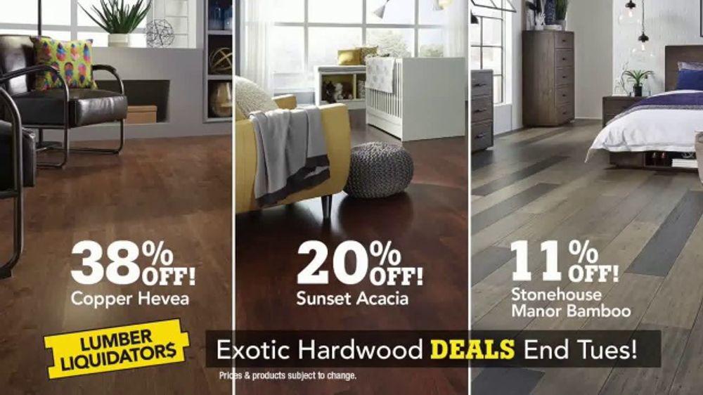 Lumber liquidators tv commercial 39 exotic hardwood deals for Stonehouse manor bamboo