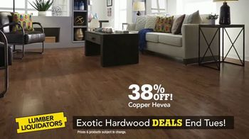 Lumber Liquidators TV Spot, 'Exotic Hardwood Deals' - Thumbnail 3