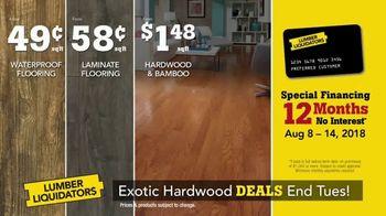 Lumber Liquidators TV Spot, 'Exotic Hardwood Deals' - Thumbnail 8