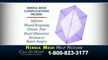 Kaplan Gore LLP TV Spot, 'Hernia Mesh Help Hotline' - Thumbnail 3
