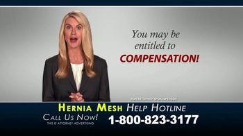 Kaplan Gore LLP TV Spot, 'Hernia Mesh Help Hotline' - Thumbnail 4