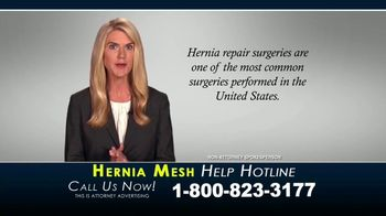 Kaplan Gore LLP TV Spot, 'Hernia Mesh Help Hotline' - Thumbnail 5
