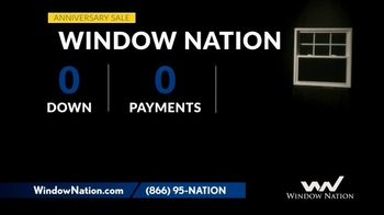 Window Nation Anniversary Sale TV Spot, 'Zero Down, Zero Payments' - Thumbnail 2