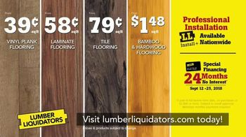 Lumber Liquidators Fall Flooring Sale TV Spot, 'Classic Look' - Thumbnail 8