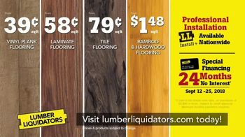 Lumber Liquidators Fall Flooring Sale TV Spot, 'Classic Look' - Thumbnail 9