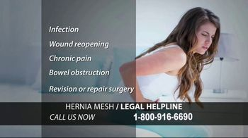 Hernia Mesh Legal Helpline TV Spot, 'Serious Complications'