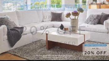 Scandinavian Designs Seating Essentials Sale TV Spot, 'Up to 20% Off' - Thumbnail 3