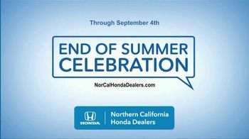 Honda End of Summer Celebration TV Spot, 'End Your Summer in Style' [T2] - Thumbnail 1