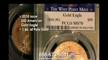 Westminster Mint $50 American Gold Eagle Coin TV Spot, 'Best-Selling' - Thumbnail 3