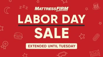 Mattress Firm Labor Day Sale TV Spot, 'Extended: Free Adjustable Base' - Thumbnail 1