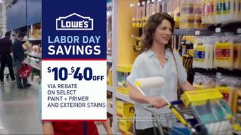 Lowe's Labor Day Savings TV Spot, 'The Moment Your Paint Game Changed' - Thumbnail 10