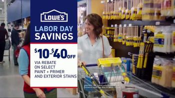 Lowe's Labor Day Savings TV Spot, 'The Moment Your Paint Game Changed' - Thumbnail 9