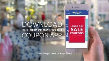 Rooms to Go Labor Day Sale TV Spot, 'Coupon App' - Thumbnail 10