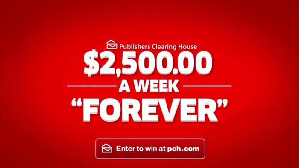 Publishers Clearing House TV Commercial, '$2,500 a Week Forever: Never Worry'