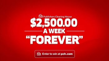Publishers Clearing House TV Spot, '$2,500 a Week Forever: Never Worry' - 190 commercial airings