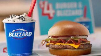 Dairy Queen $4 Burger & Blizzard TV Spot, 'Treat Deal'