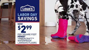 Lowe's Labor Day Savings TV Spot, 'The Moment: Old Carpet: Pergo' - Thumbnail 8