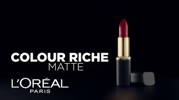 L'Oreal Paris Colour Riche Matte TV Spot, 'Adictivo' [Spanish]