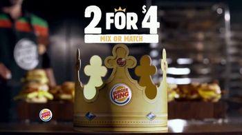 Burger King 2 for $4 Mix or Match TV Spot, 'Breakfast: Sourdough King' - Thumbnail 1