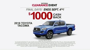 Toyota National Clearance Event TV Spot, 'Gone in Seconds' [T2] - Thumbnail 5