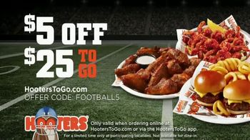 Hooters TV Spot, 'Buddies Football: To Go $5 Off' - Thumbnail 10