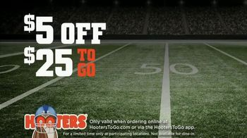 Hooters TV Spot, 'Buddies Football: To Go $5 Off' - Thumbnail 9