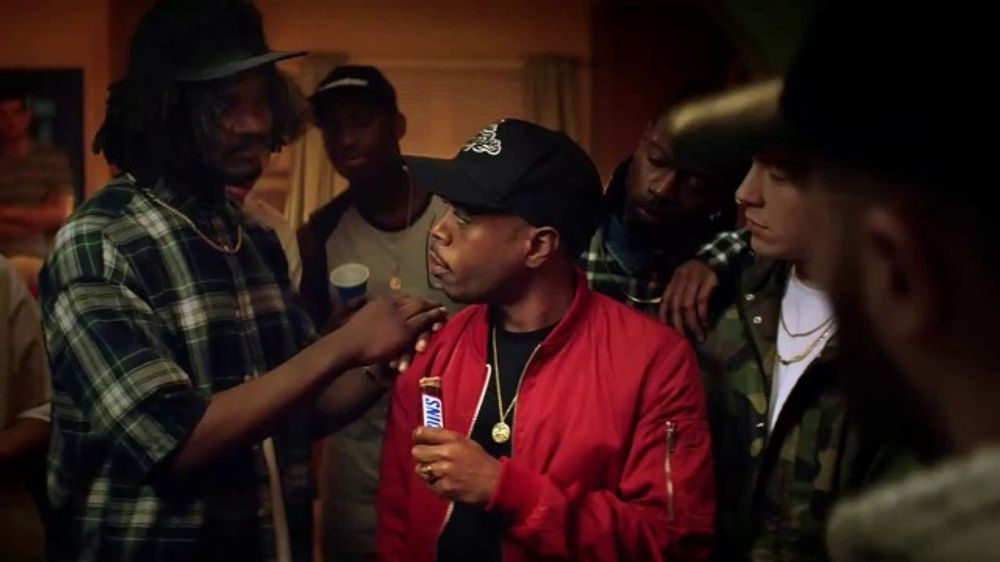 snickers tv commercial rap battle featuring elton john boogie monique lawz ispottv