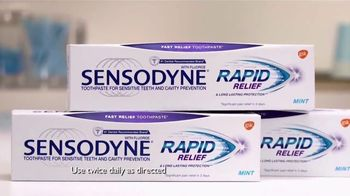 Sensodyne Rapid Relief TV Spot, 'Relieve Sensitive Teeth in 3 Days' - Thumbnail 4