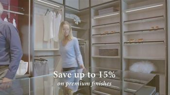 California Closets Autumn Upgrade Event TV Spot, 'Premium Finishes' - Thumbnail 6