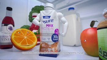 Ensure Max Protein TV Spot, 'More Protein With Less Sugar'