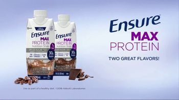 Ensure Max Protein TV Spot, 'More Protein With Less Sugar' - Thumbnail 9