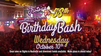 Tootsie's World Famous Orchid Lounge TV Spot, '58th Birthday Bash'