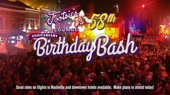 Tootsie's World Famous Orchid Lounge TV Spot, '58th Birthday Bash' - Thumbnail 2