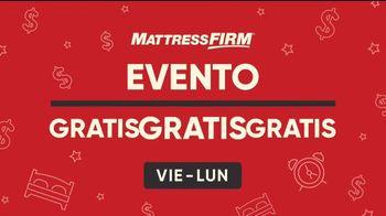 Mattress Firm Evento Gratis Gratis Gratis TV Spot, 'Ahorros especiales: cero interés'  [Spanish]