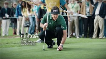 Enbrel TV Spot, 'My Dad's Pain: Grilled Cheese' Featuring Phil Mickelson - Thumbnail 1