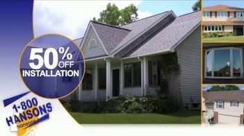 1-800-HANSONS Fall Fix Up Sale TV Spot, 'Windows, Siding and Roofing' - Thumbnail 3