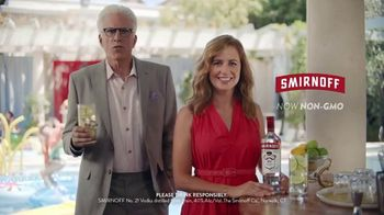 Smirnoff TV Spot, 'Jenna Fischer and Ted Danson Have a Big Announcement' - 4727 commercial airings