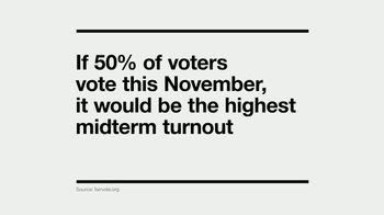 I Am a Voter TV Spot, '50 Percent Turnout'