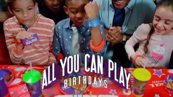 Chuck E. Cheese's All You Can Play Birthdays TV Spot, 'Ticket Blaster'
