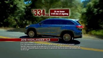 Toyota Fall Savings Event TV Spot, 'Don't Forget: 2018 Highlander' [T2] - Thumbnail 2